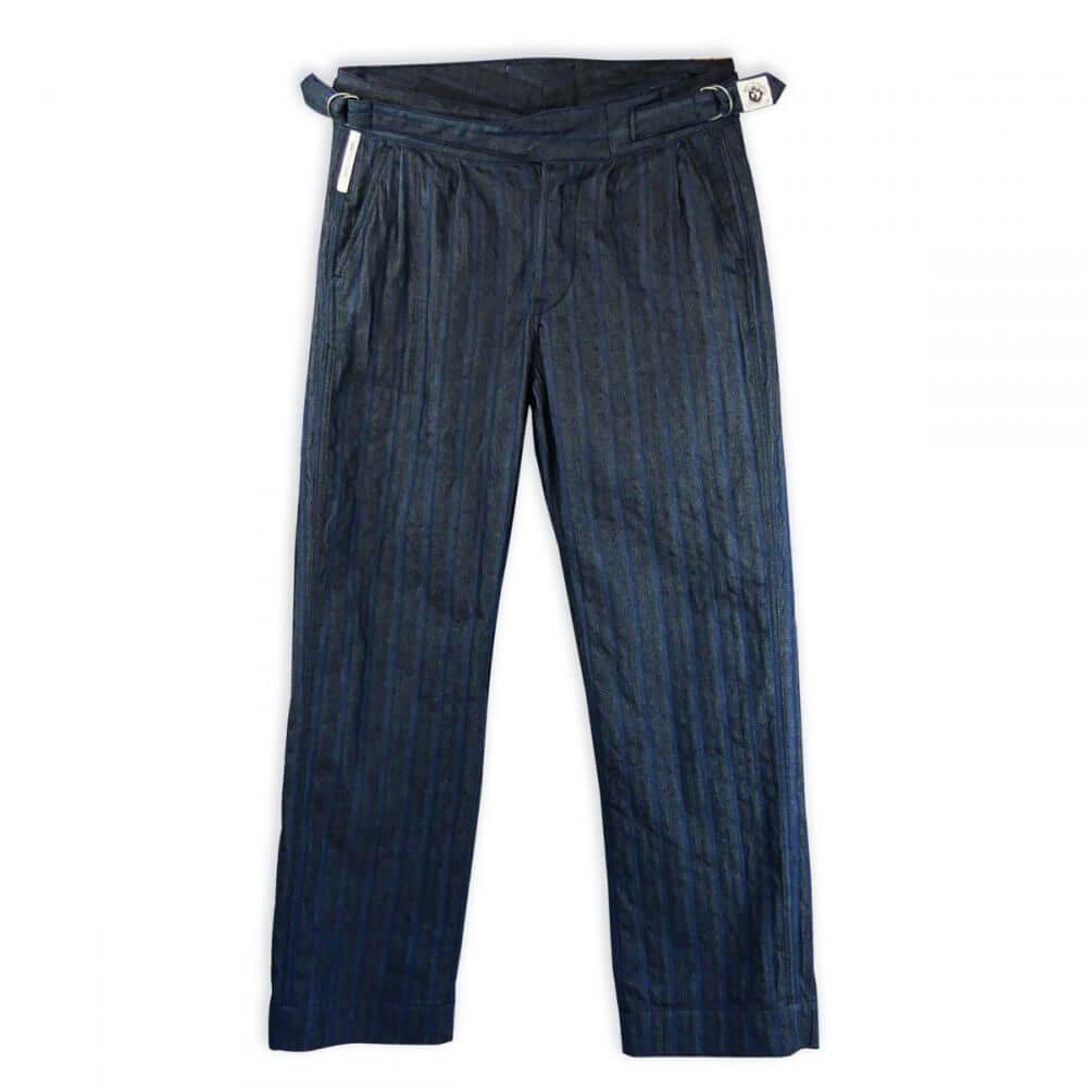 Gurkha pants con cinturino ad anelli Lindy Hop Misto Cotone nei toni del blu - gurkha trousers